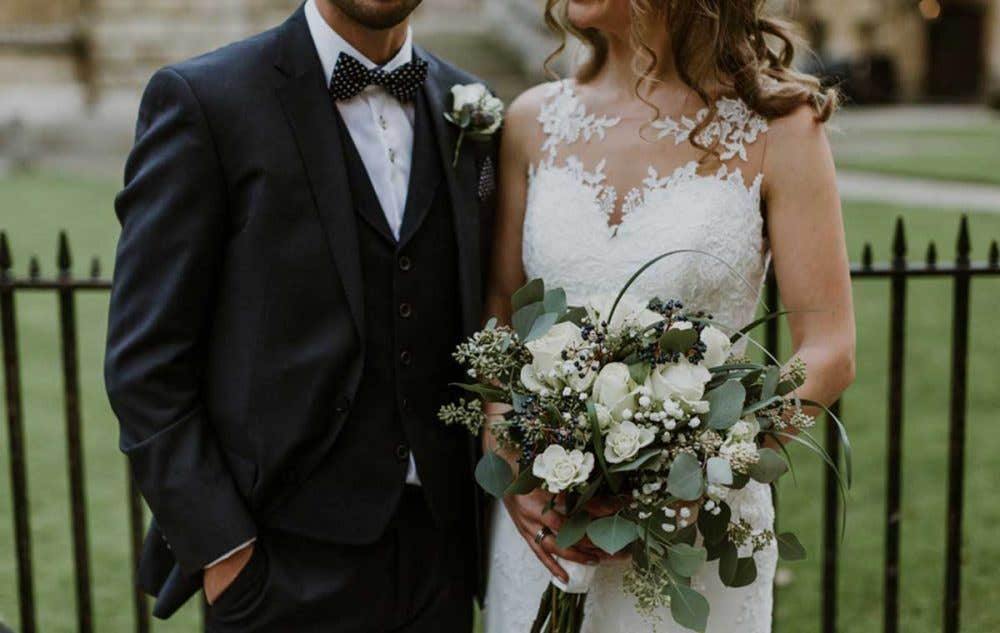 Real Weddings Oxford: Megan and James's stylish winter wedding