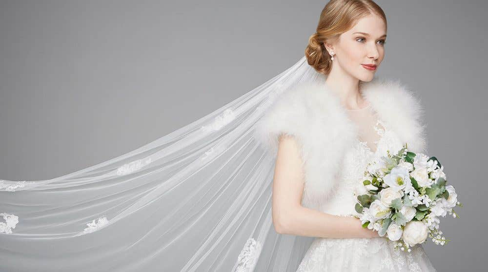 Three romantic new bridal wedding dresses