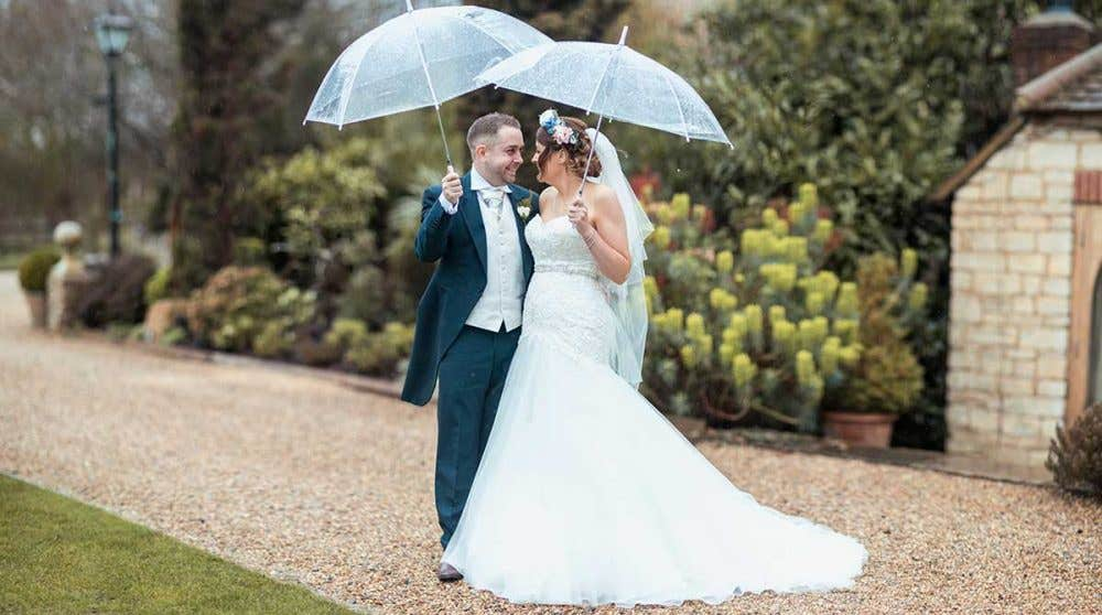 Real Weddings Milton Keynes: Clare and Dean's fabulously floral big day