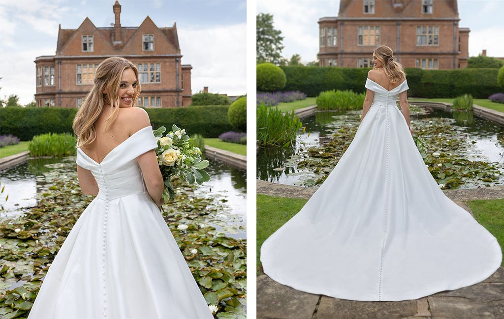 Cambridge a classic wedding dress by Anna Sorrano