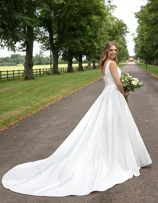 Rosalynn a classic wedding dress by Anna Sorrano