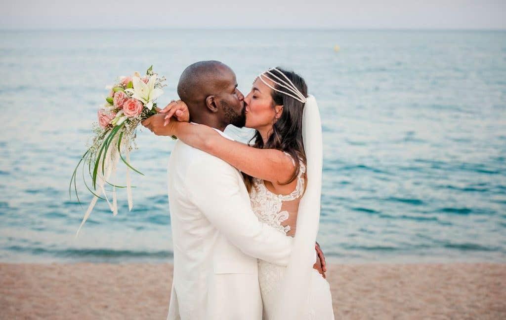 Real Weddings Bromley: Maria and Sene's beautiful beach wedding - Eleni