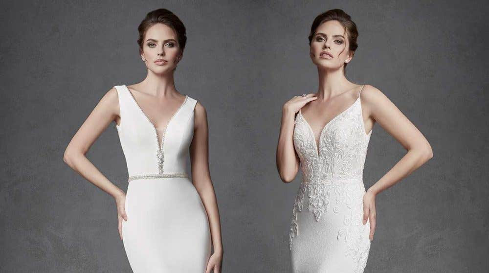 Discover your perfect plunging neckline wedding dress…