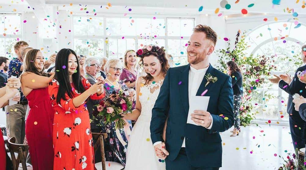 Real Weddings Surbiton: Georgina and Toby's contemporary London wedding