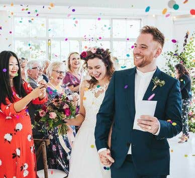 Real Weddings Surbiton: Georgina and Toby's contemporary London wedding