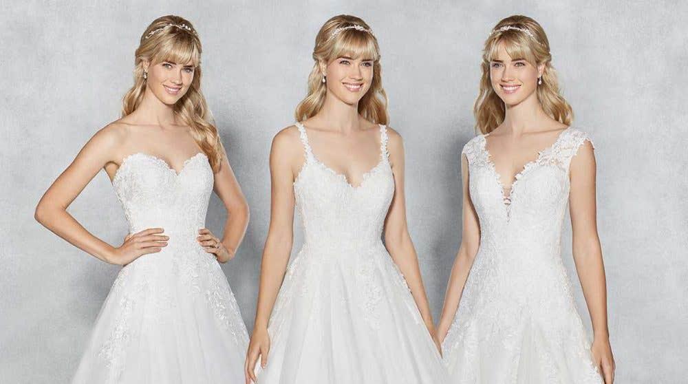 Three thoroughly modern princess wedding gowns…