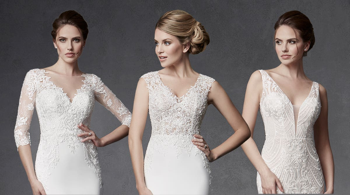 Find your dream illusion back wedding dress…