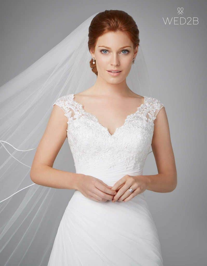 Three of the best… wedding dresses with straps - Adela