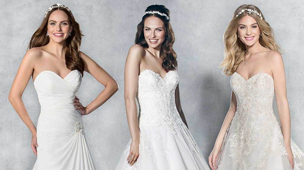 Find the perfect strapless wedding dress with Viva Bride