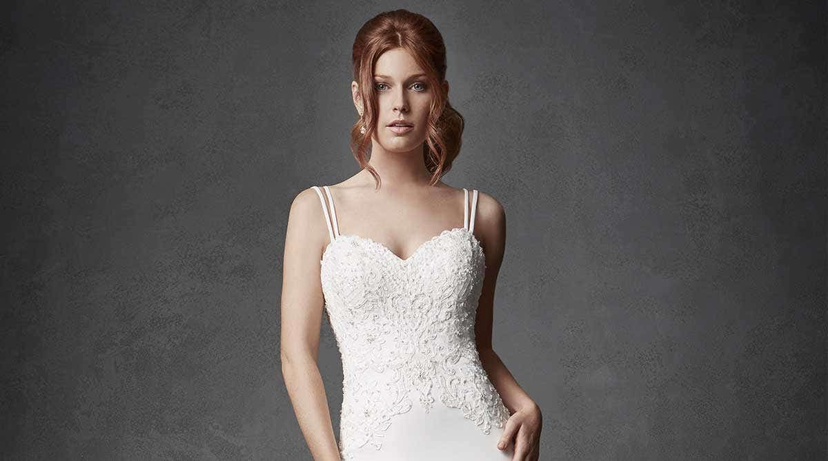 Three of the best… wedding dresses with straps