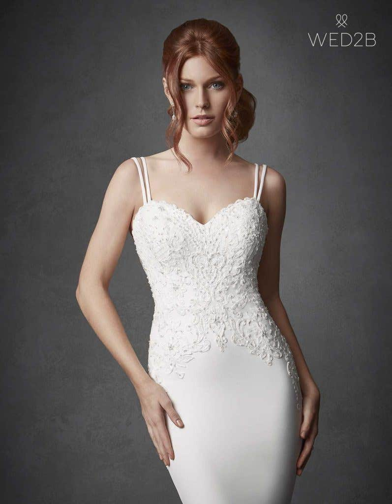 Three of the best… wedding dresses with straps - Hemsworth