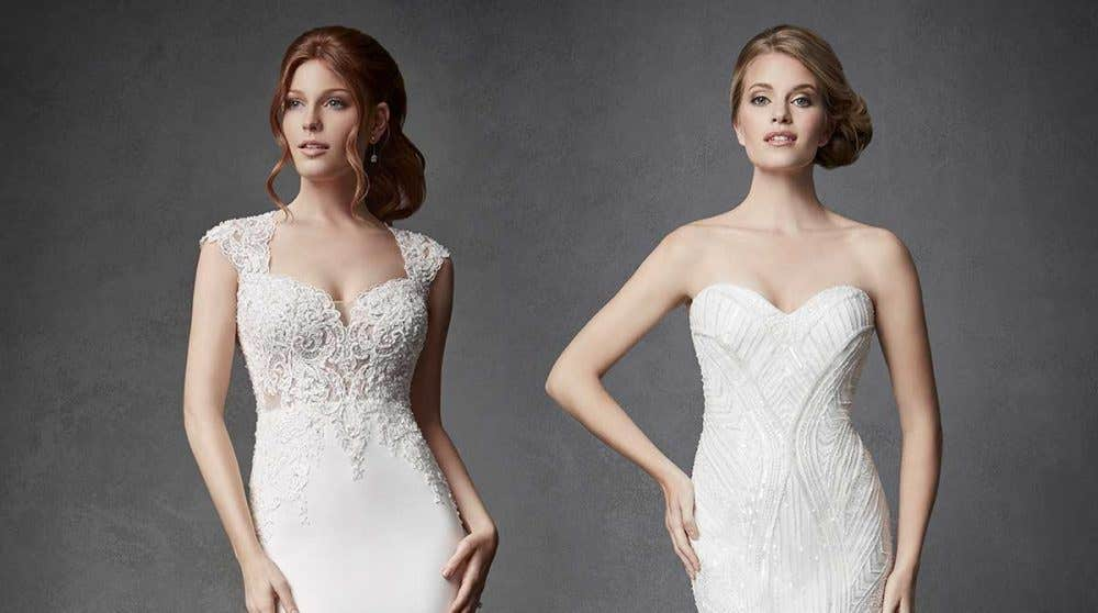 Stunning new beaded sequin wedding dresses