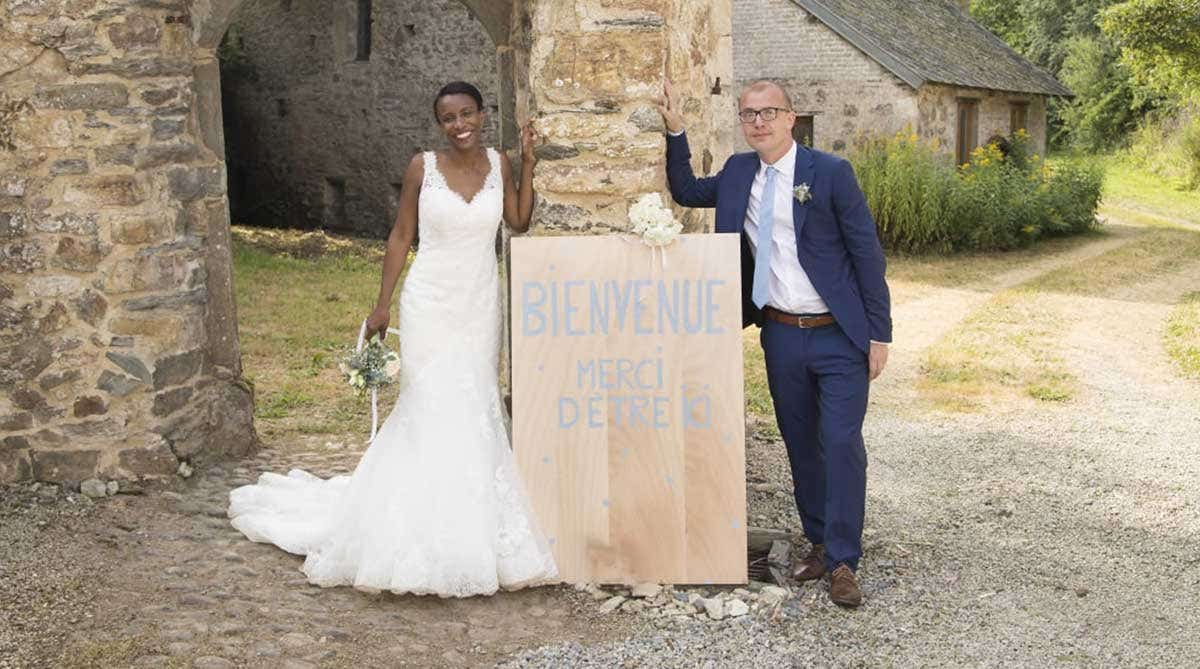 Real Wedding Normandy: Kimairis and Bertrand's musical celebration
