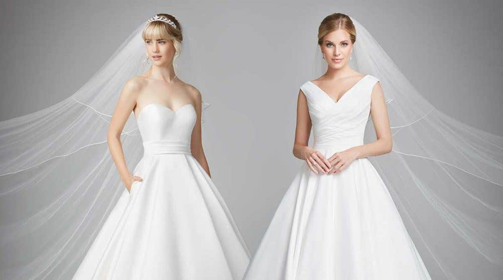 Three glorious new wedding ball gowns...
