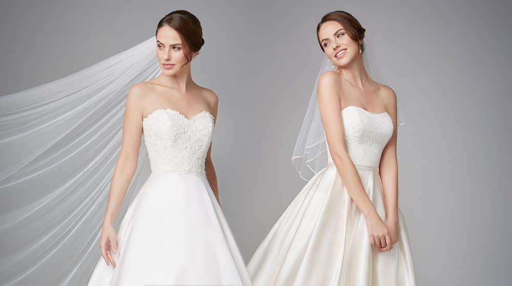 We love… a corset back wedding dress!
