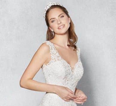 Three unique wedding dresses from our exclusive Platinum Edition range