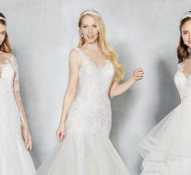 Three magical modern wedding dresses…