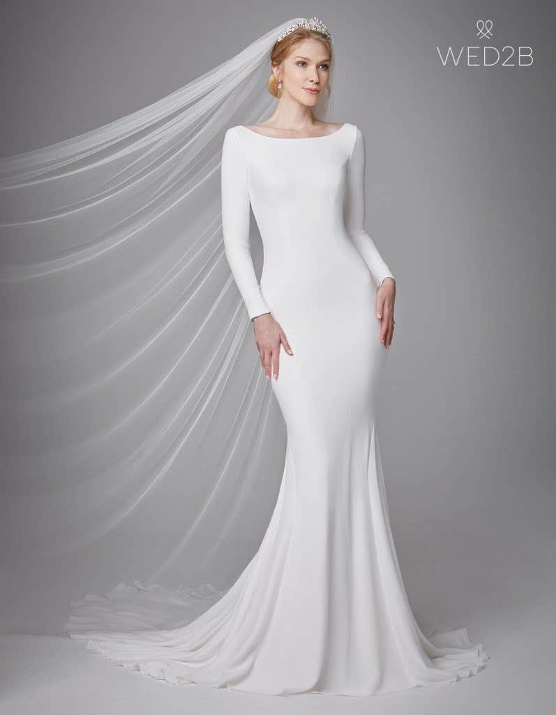 Stylishly Simple Wedding Dresses Wed2b Uk Blog,Audrey Hepburn Wedding Dress 1955