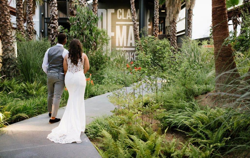 Real Weddings Bromley: Michael and Cantara's industrial East London wedding venue - Sawyer