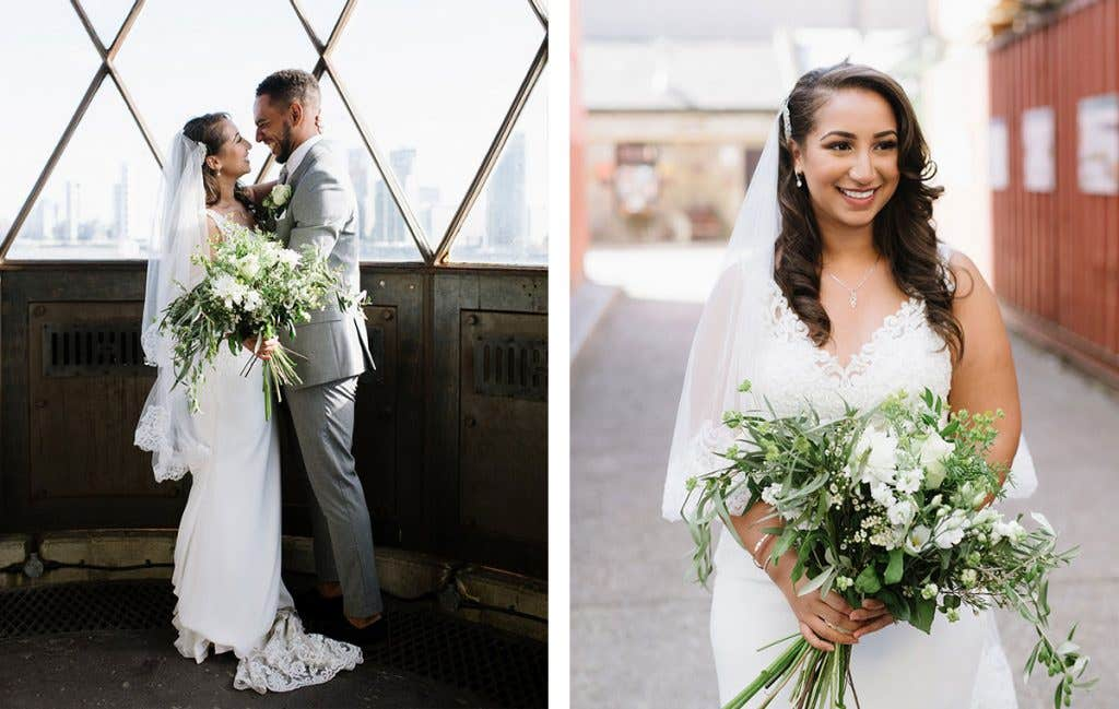 Real Weddings Bromley: Michael and Cantara's industrial East London wedding venue - Sawyer