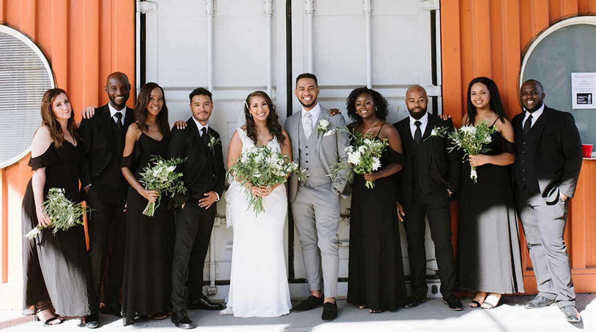 Real Weddings Bromley: Michael and Cantara's industrial East London wedding venue