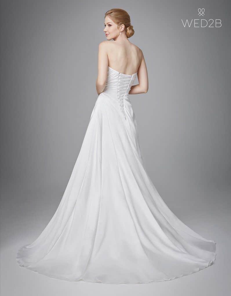Full back shot of bridal dresses Clare