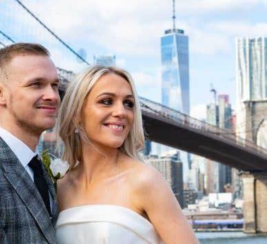 Real Weddings Glasgow: Cheryl and Dean's romantic New York wedding