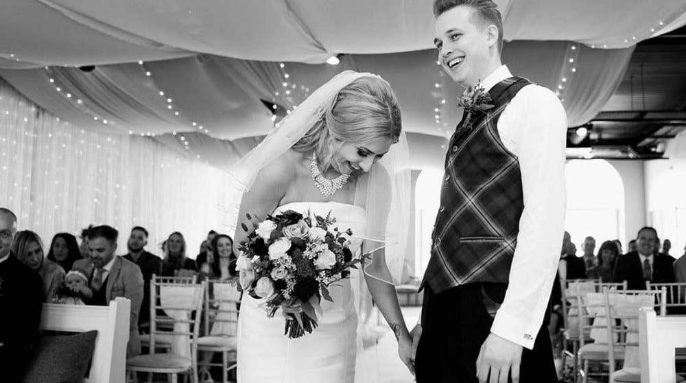 Real Weddings Glasgow: Sam and Graeme's moving humanist wedding