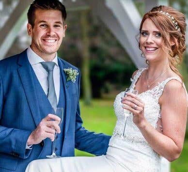 Real Weddings Wrexham: Dragons and Welsh slate were the perfect decor for these newlyweds