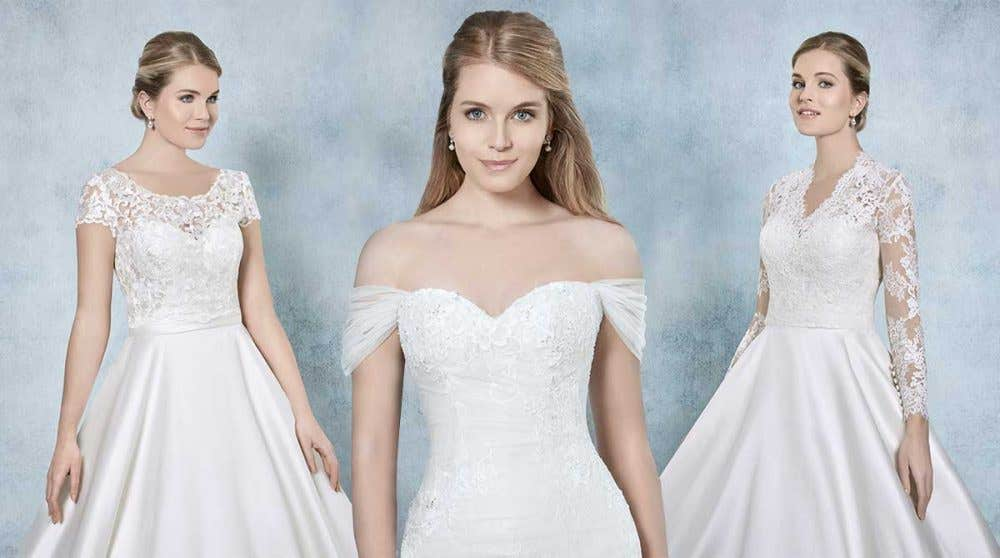 Create a unique look with a bridal jacket or detachable straps…