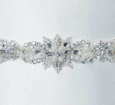 Complete your look with one of our stunning wedding dress belts