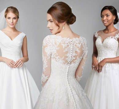 Figure-flattering A line wedding dresses
