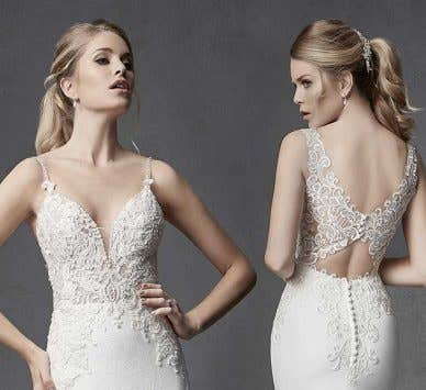 Flatter your curves with one of these stunning fitted wedding dresses…