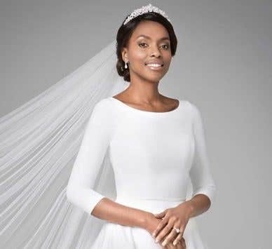 We reveal two brand new wedding dresses with sleeves…