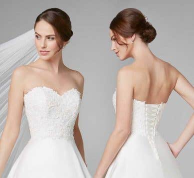 Keep it simple with a sophisticated plain wedding dress