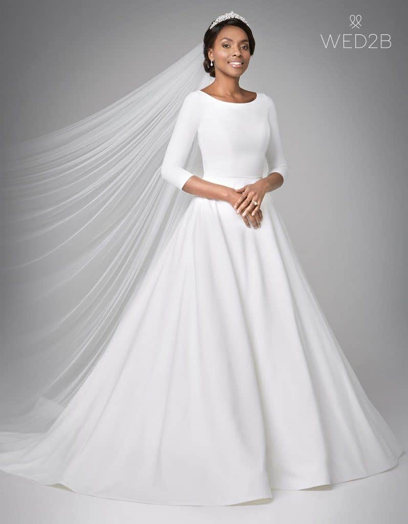 We Reveal Two Brand New Wedding Dresses With Sleeves Wed2b Uk Blog