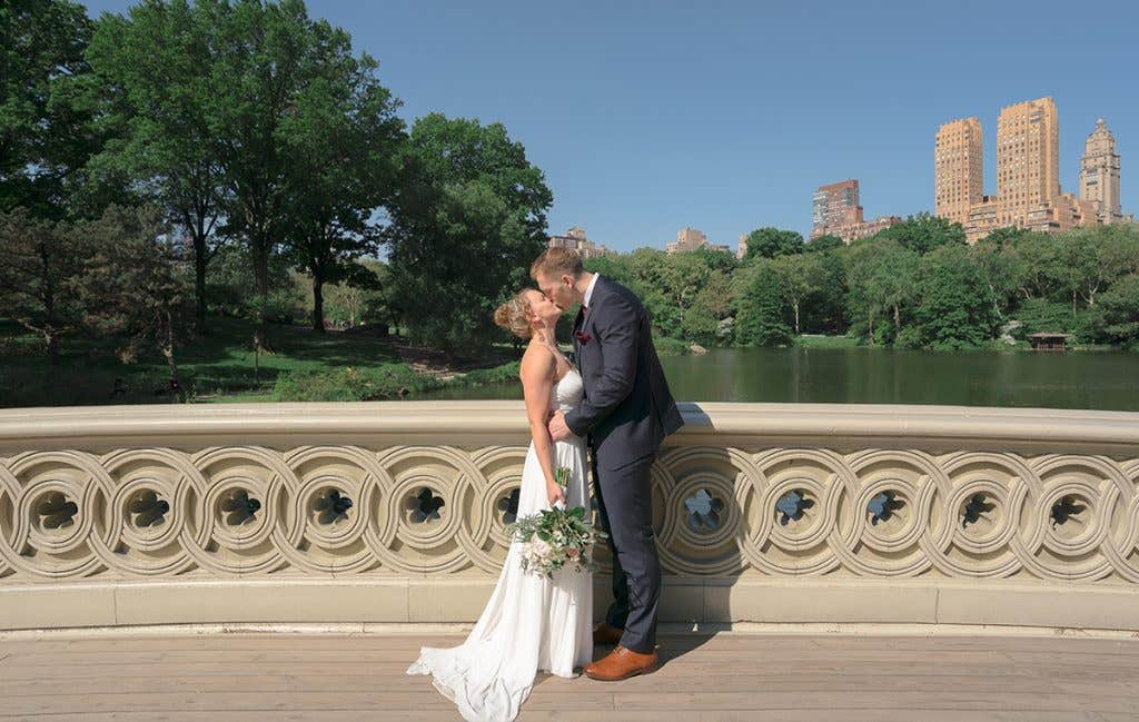 Joanna and Karl in Central Park for their American Wedding