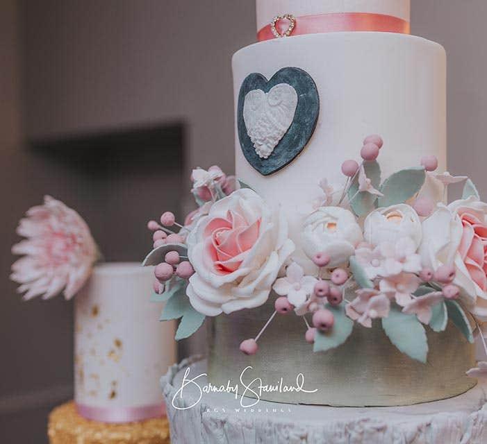 The Purple Pumpkin Cake Company wedding cake
