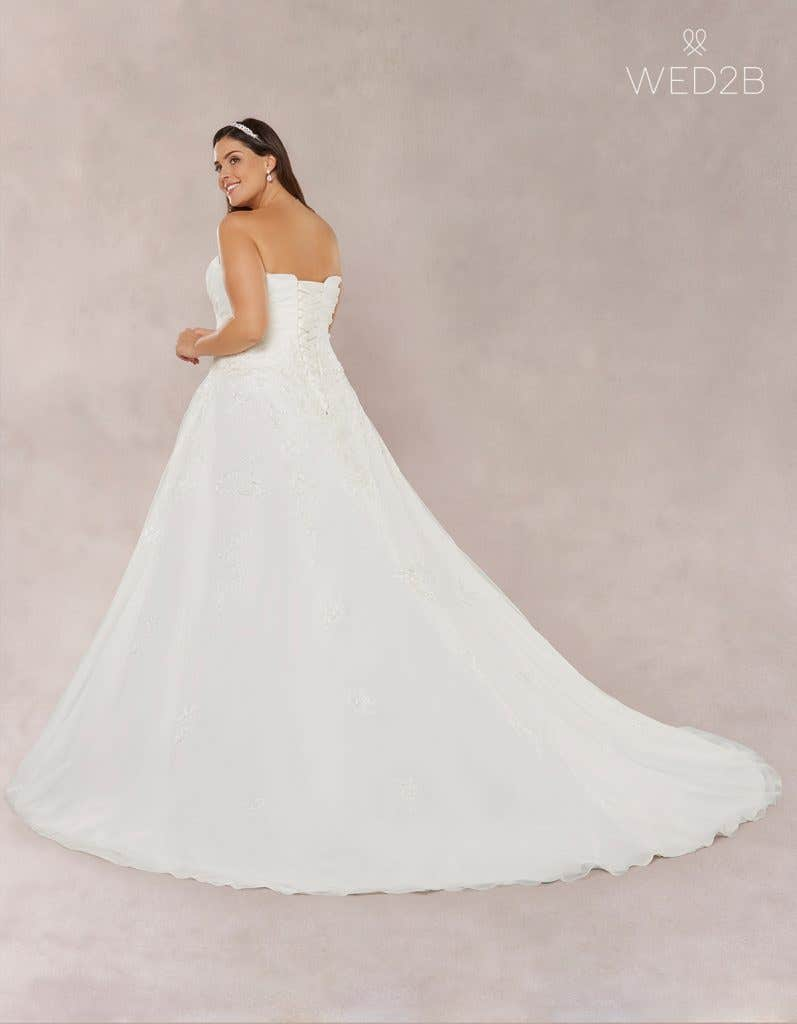 Back view of Estelle, a princess wedding dress