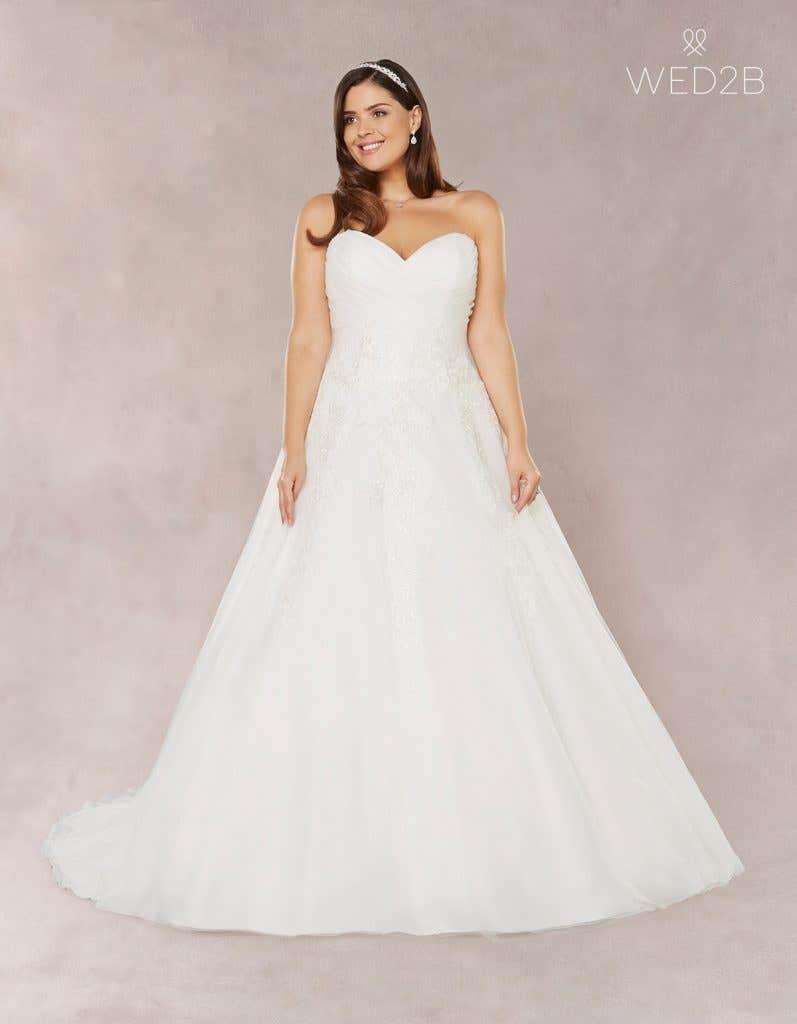 Front view of Estelle, a princess wedding dress