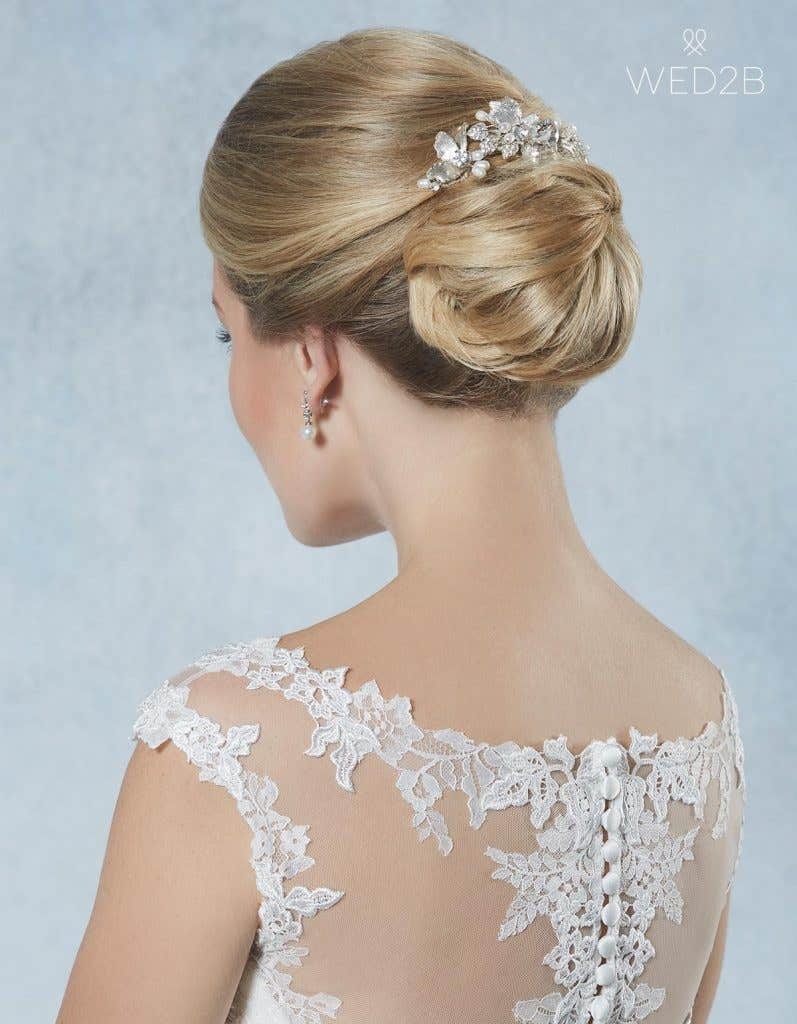 Evie hair slide - bridal hair accessories
