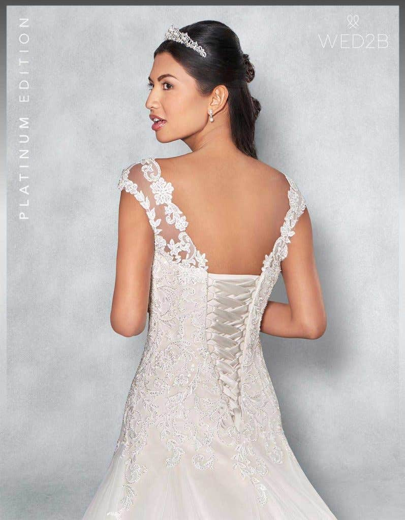 Back crop view of Fiorella Platinum Edition an exclusive wedding dress