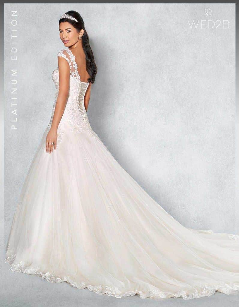 Back view of Fiorella Platinum Edition an exclusive wedding dress
