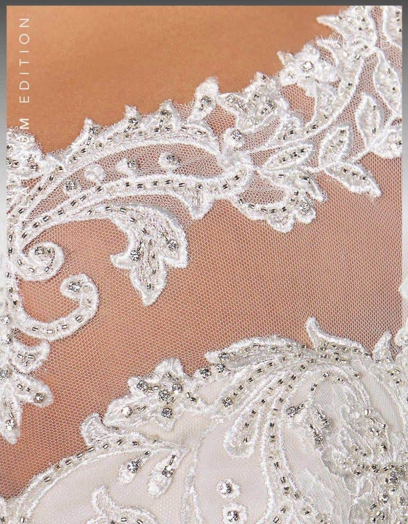 Detail crop view of Fiorella Platinum Edition an exclusive wedding dress