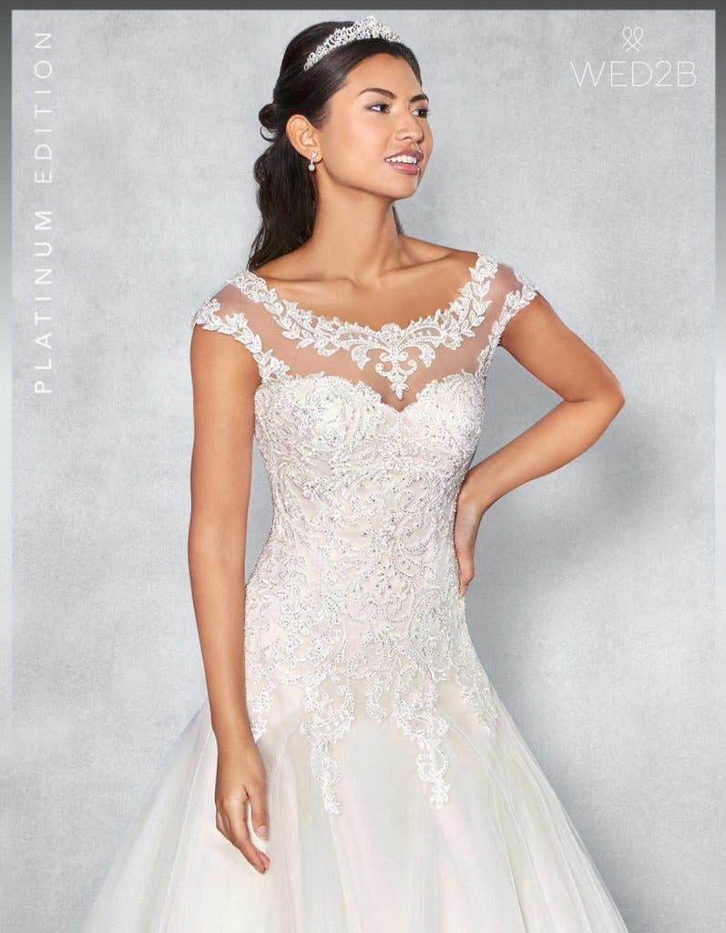 Front crop view of Fiorella Platinum Edition an exclusive wedding dress