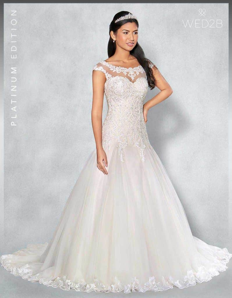 Front view of Fiorella Platinum Edition an exclusive wedding dresses