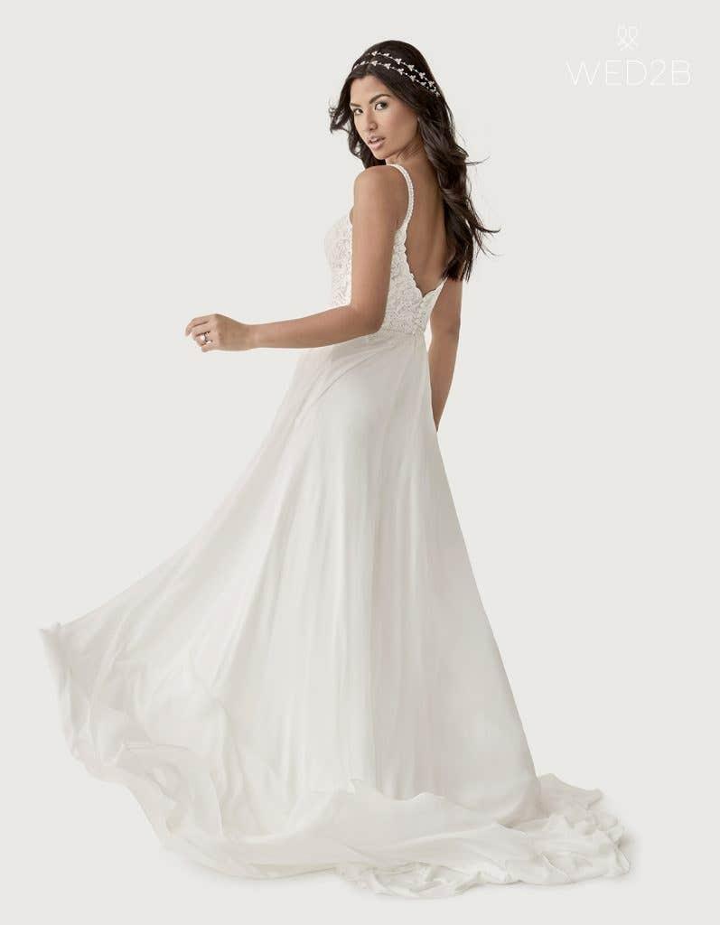 Back crop view of Lark a boho wedding dress