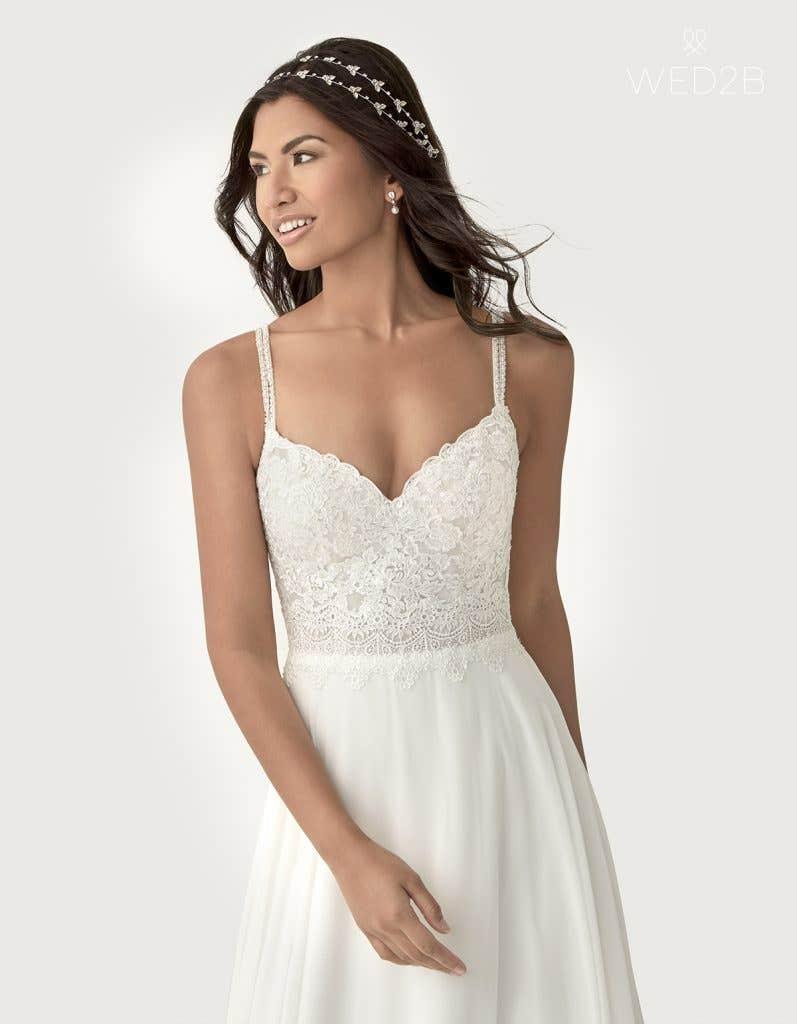 Front crop view of Lark a boho wedding dress