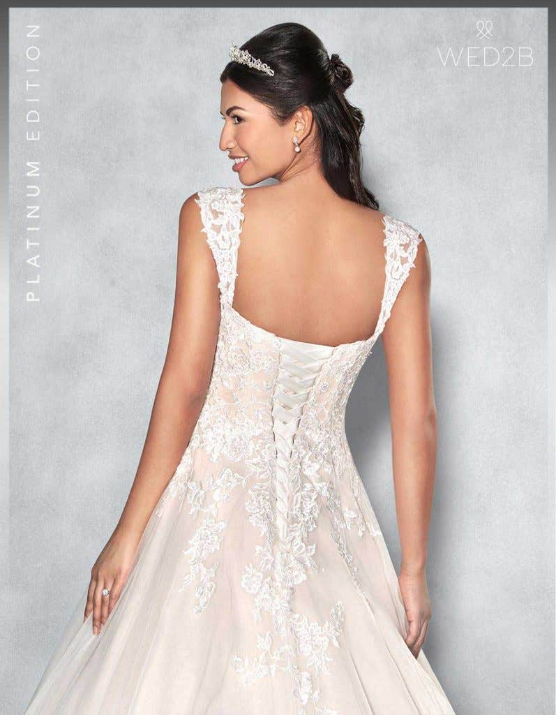 Back crop view of Lexington Platinum Edition an exclusive wedding dress