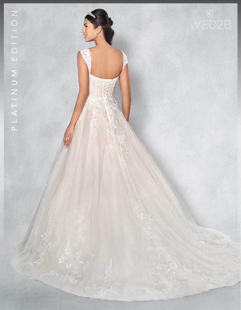 Back view of Lexington Platinum Edition an exclusive wedding dress